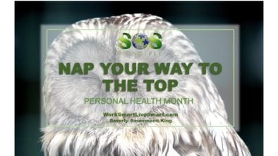 Benefits of Napping Personal Health Month