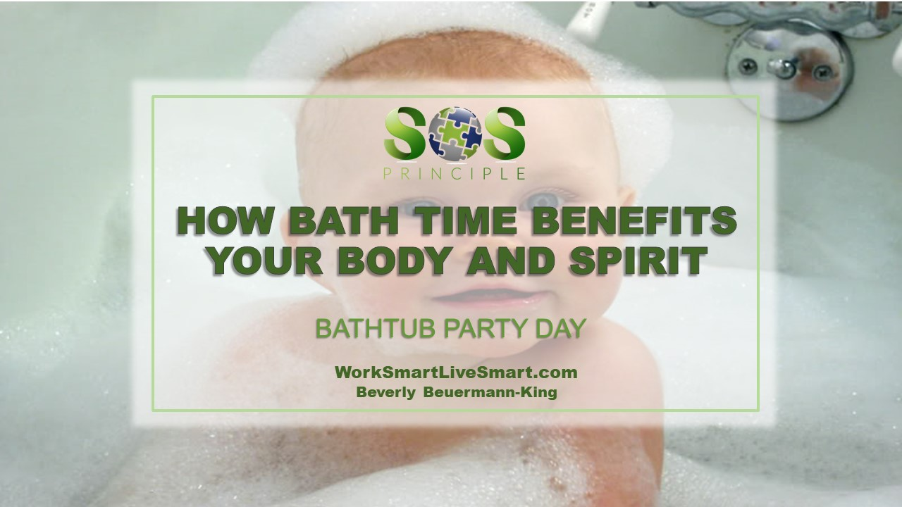 Bath Time and Stress - Bathtub Party Day